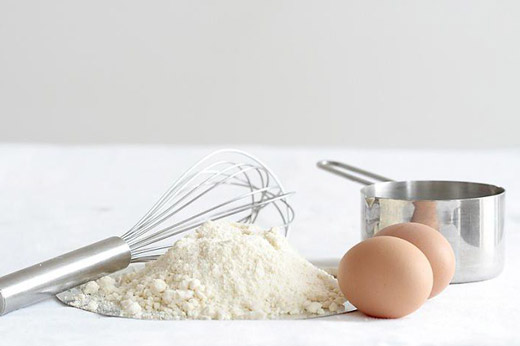 яйца и мука от ожогов