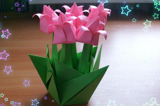 Оригами букет цветов