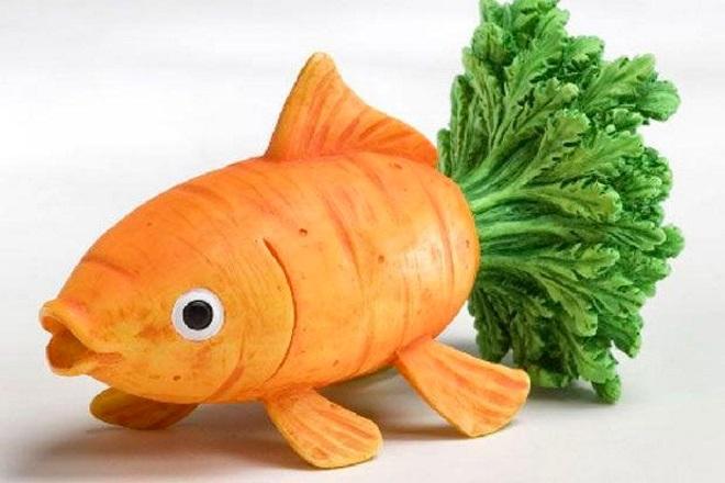 Рыбка из моркови
