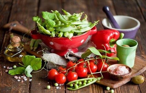 томаты и горох