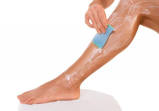 восковая депиляции ног