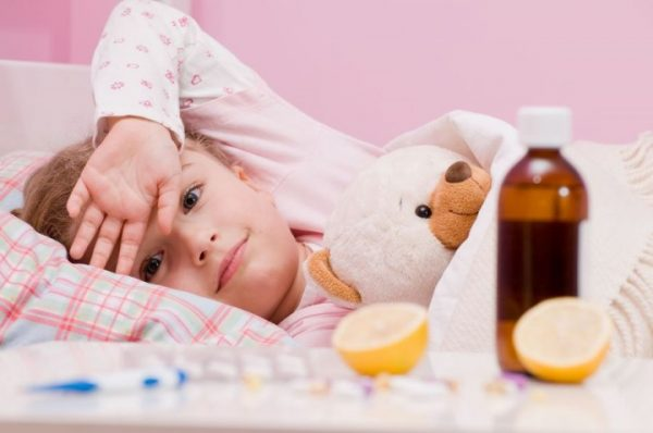 сколько держится температура при орз у ребенка