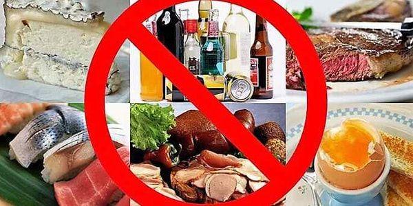 Запрещенные продукты при запоре