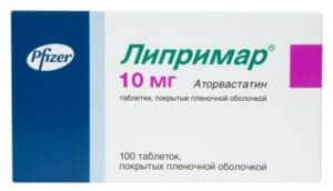 таблетки Липримар