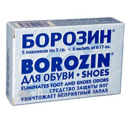 Применения Борозина при потливости ног