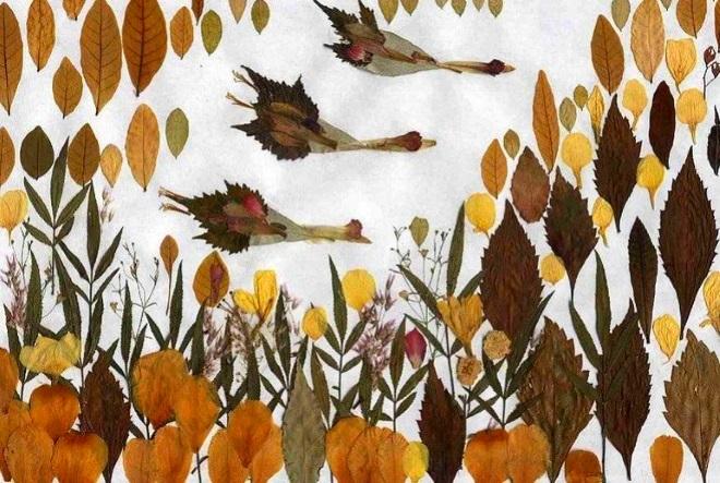Панно перелетные птицы