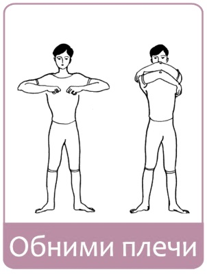 Упражнение обними плечи